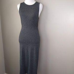 Express Sleeveless Dark Gray Maxi Dress Ladies S